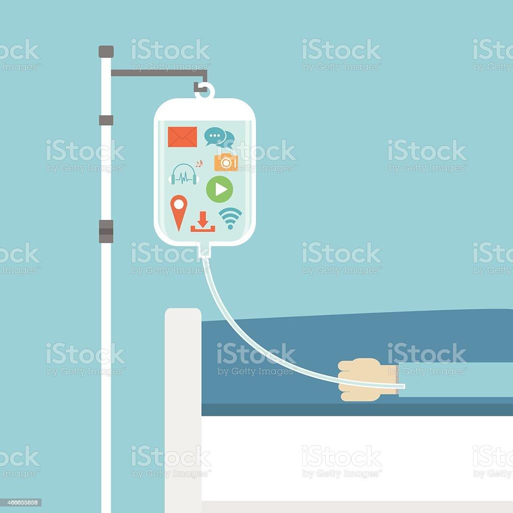patient vector art illustration