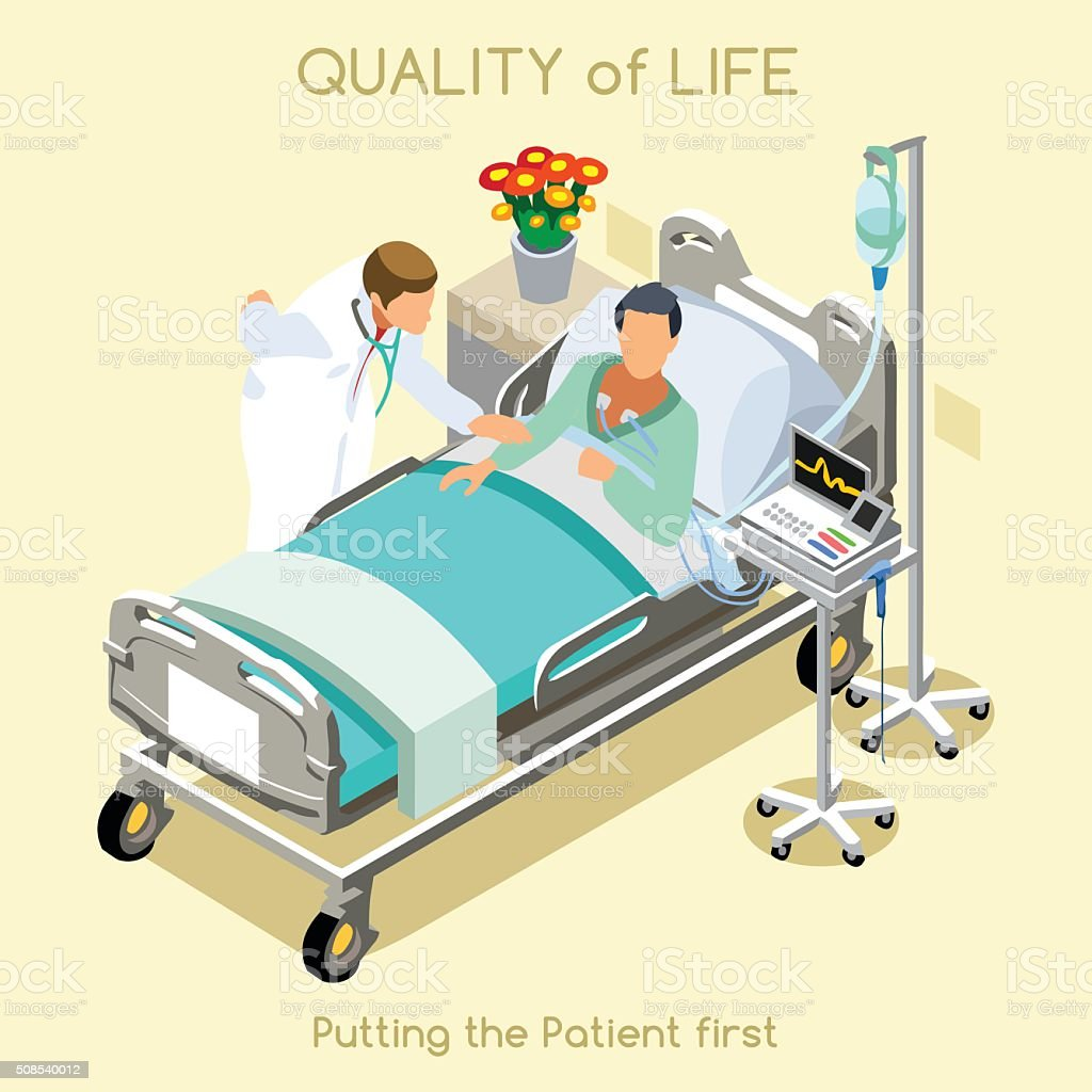 Patient Visit 01 People Isometric vector art illustration