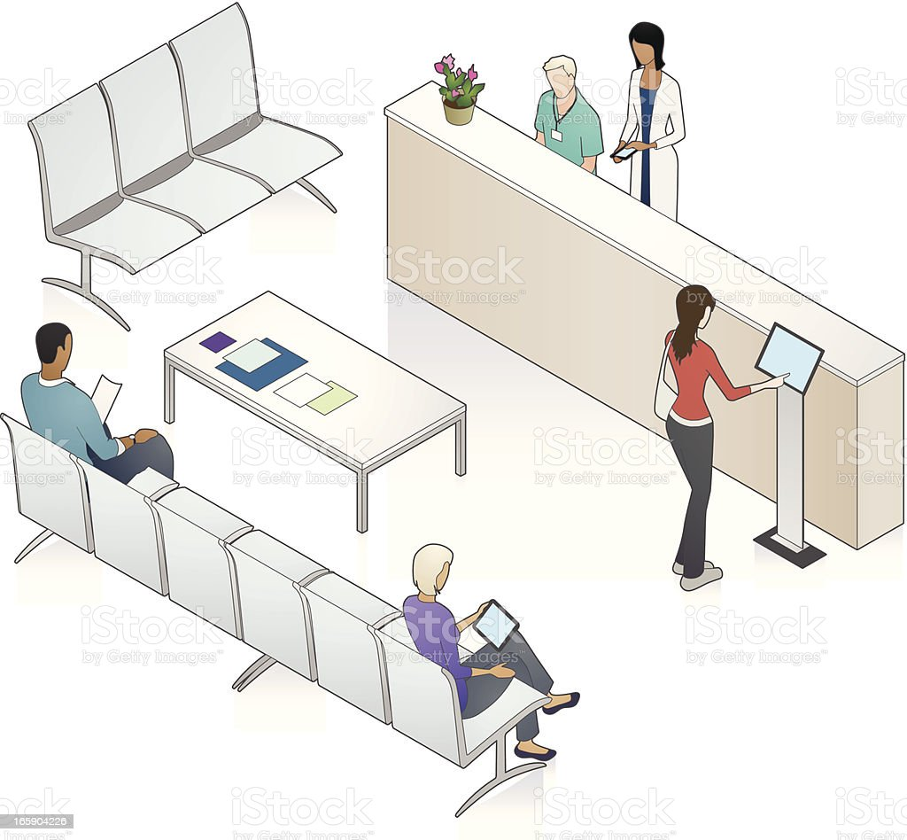 Patient Waiting Area Illustration vector art illustration