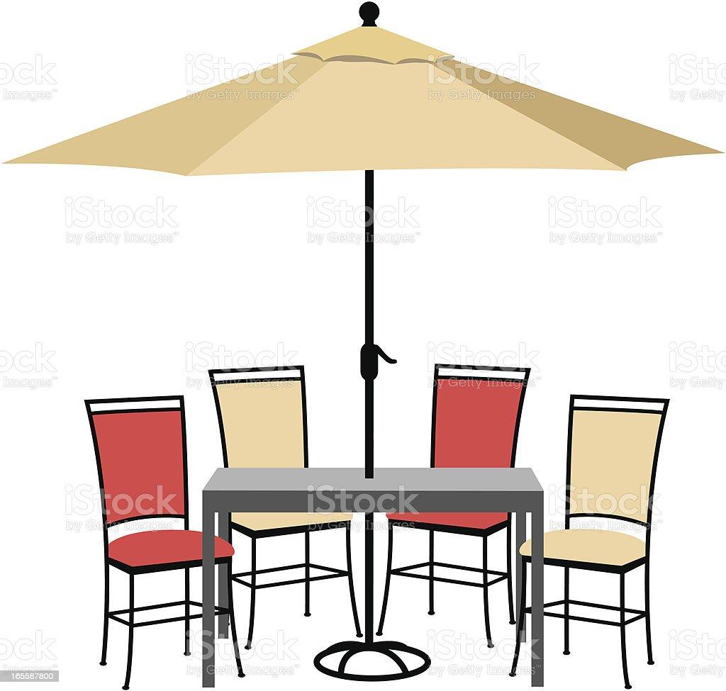 Patio Furniture Set vector art illustration