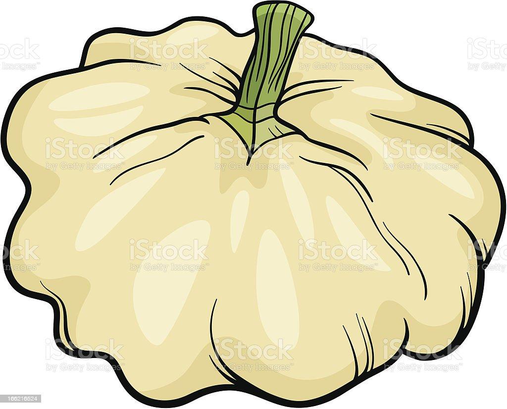 patison vegetable cartoon illustration vector art illustration