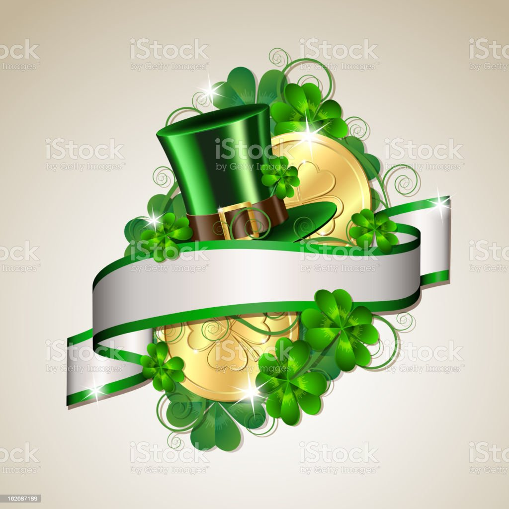 Patrick day card royalty-free stock vector art