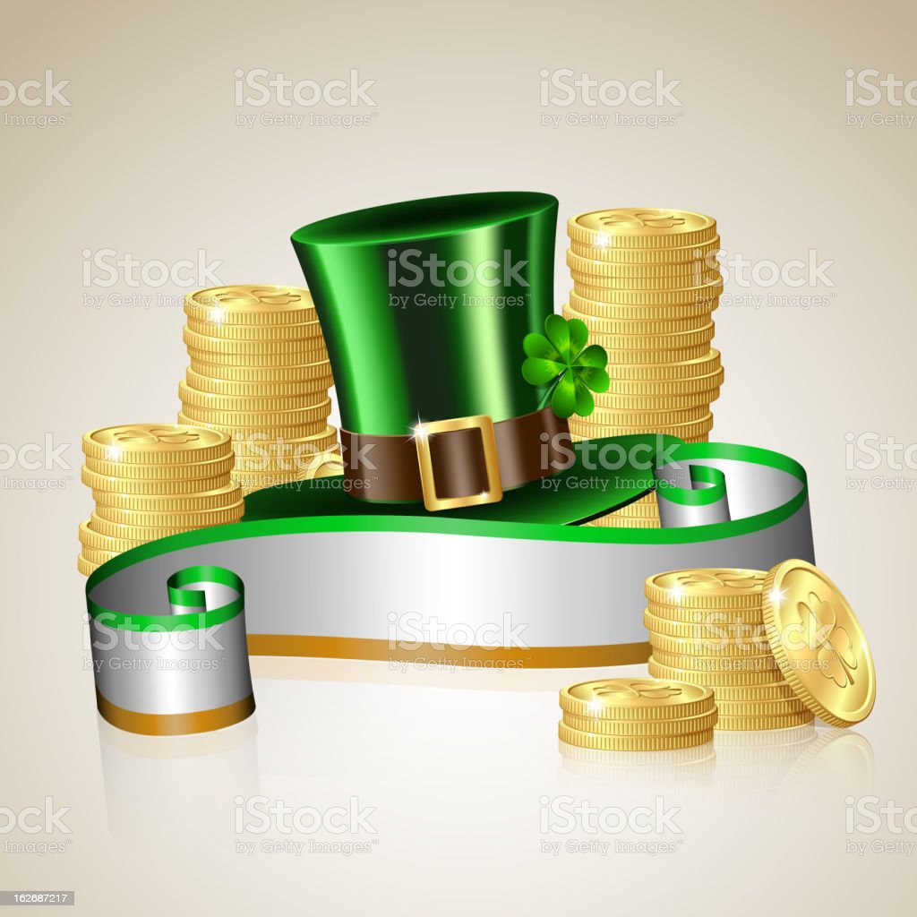 Patrick day card royalty-free stock vector art