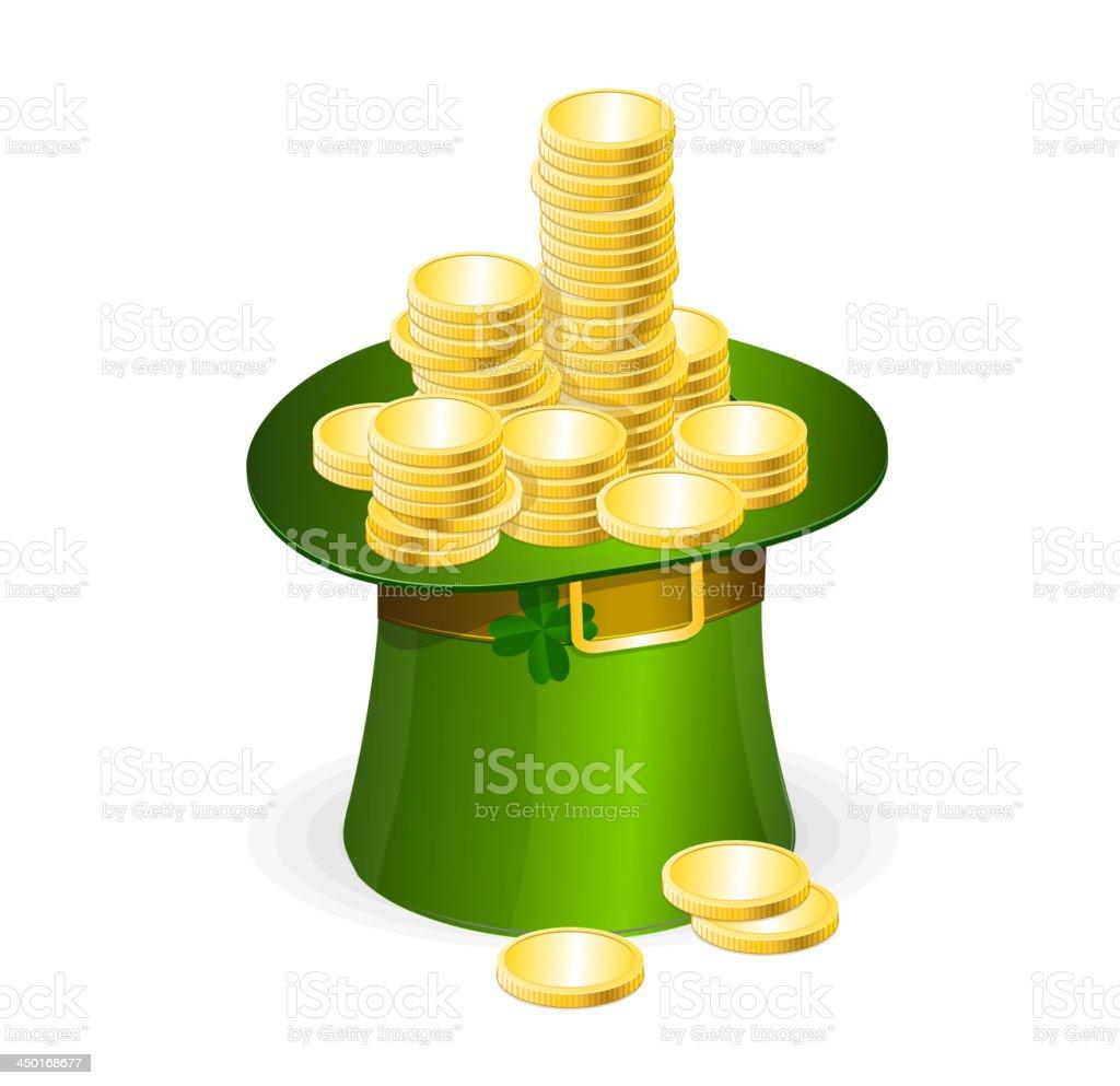 Patrick day illustration, leprechaun hat royalty-free stock vector art