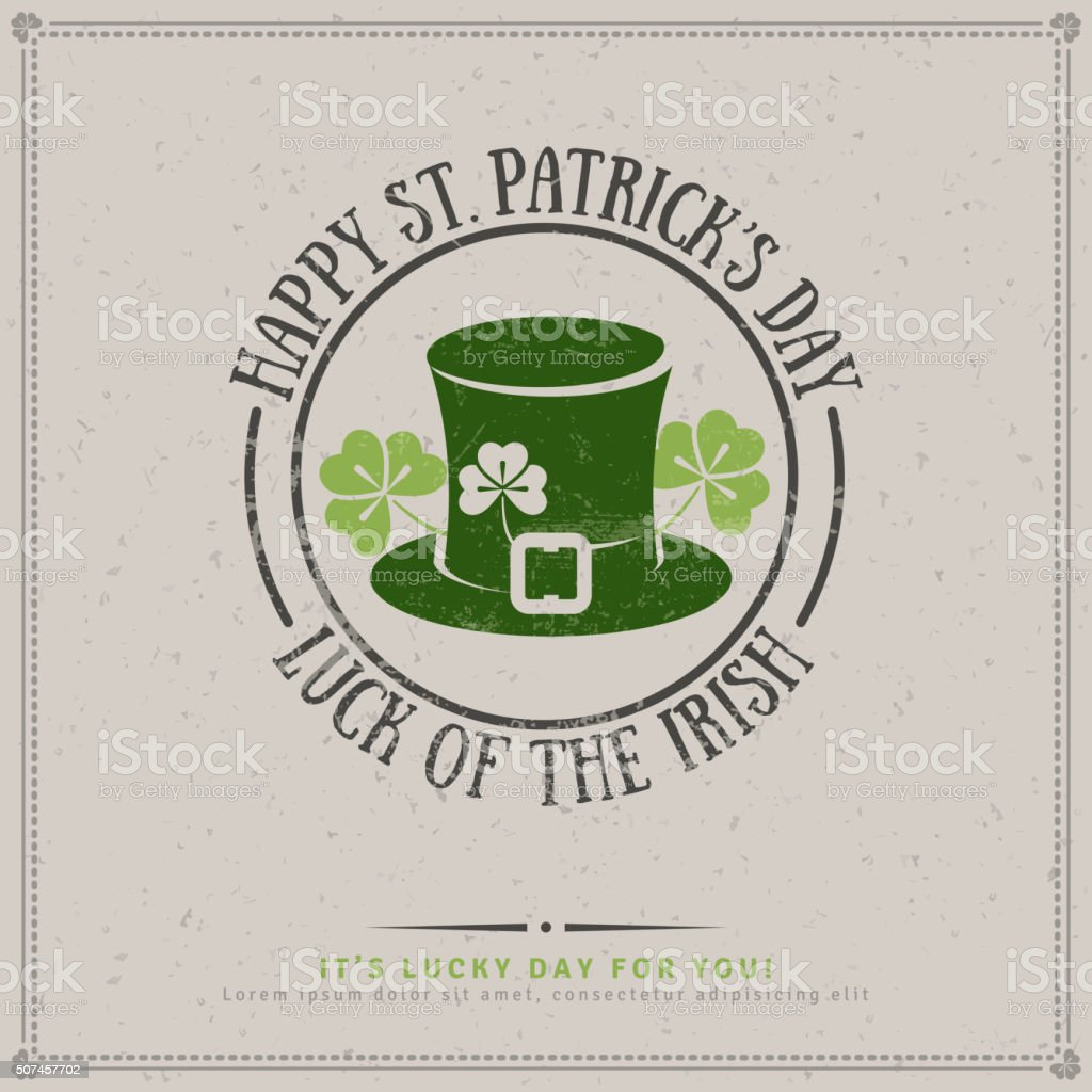 Patrick's Day Greeting Card vector art illustration