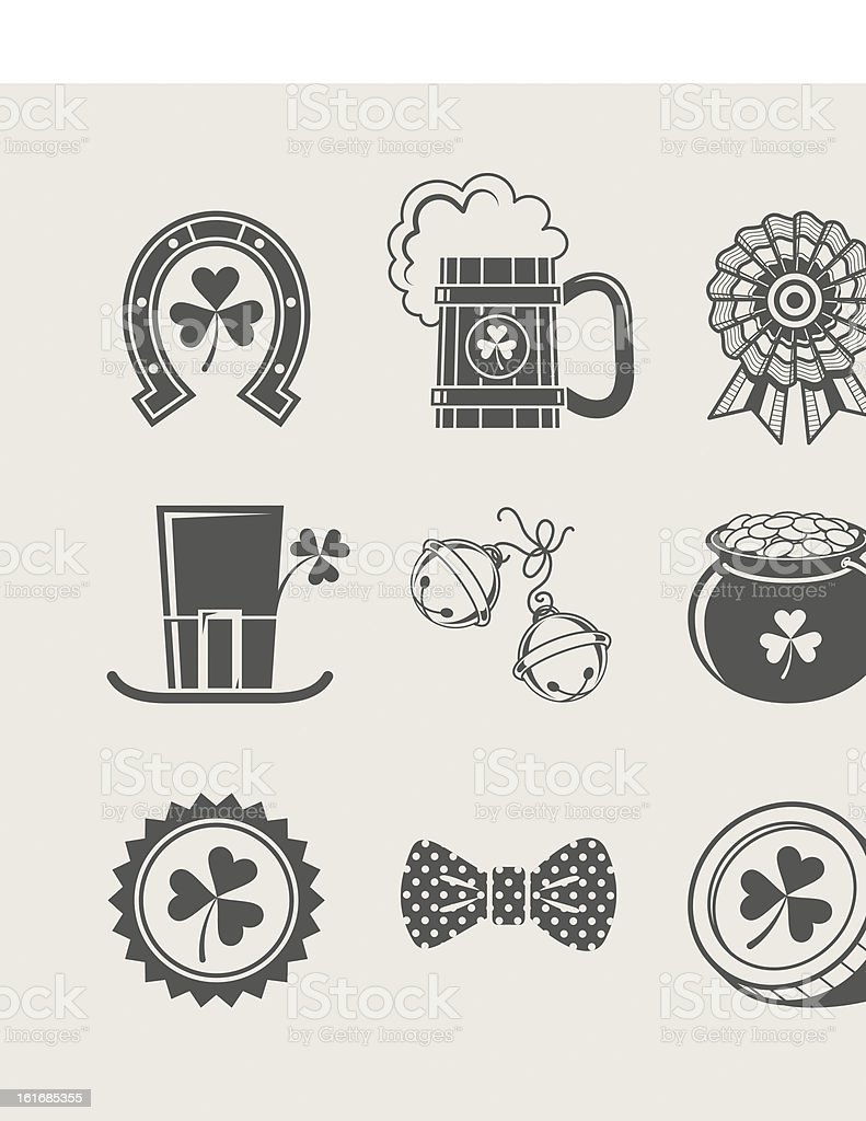 patrick's day set of icons royalty-free stock vector art
