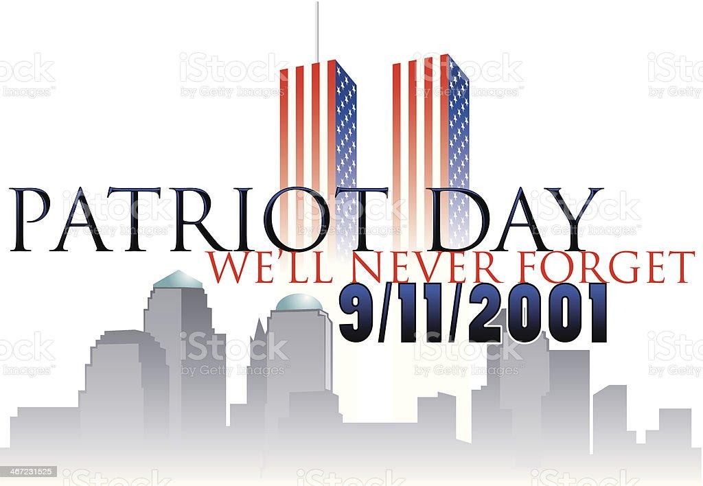 Patriot Day Heading vector art illustration