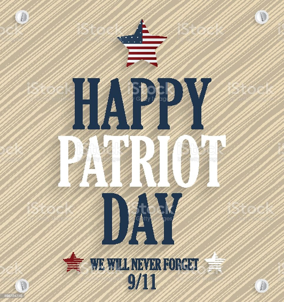 Patriot Day poster. 9/11, never forget vector art illustration