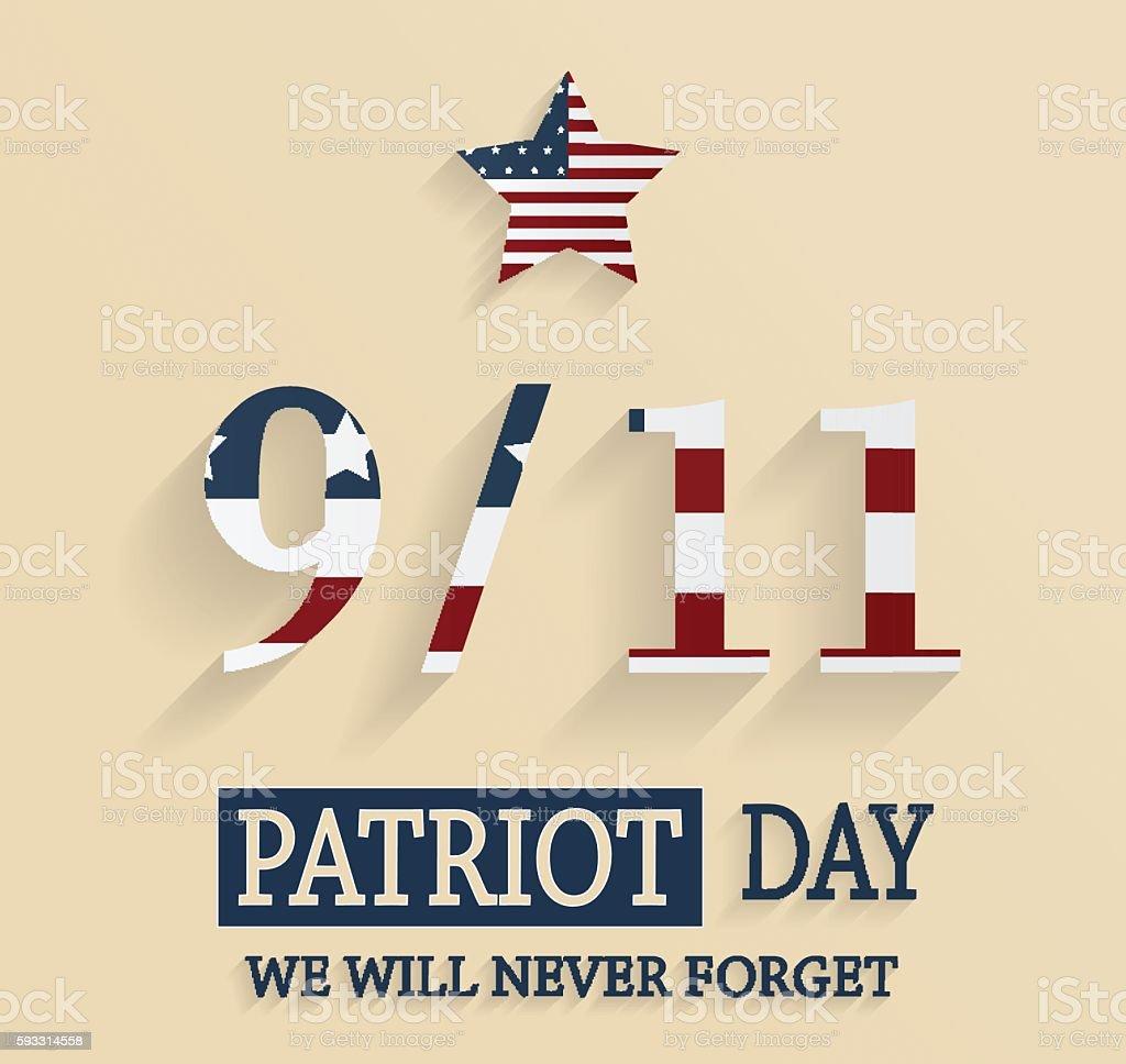 9/11 Patriot Day poster vector art illustration