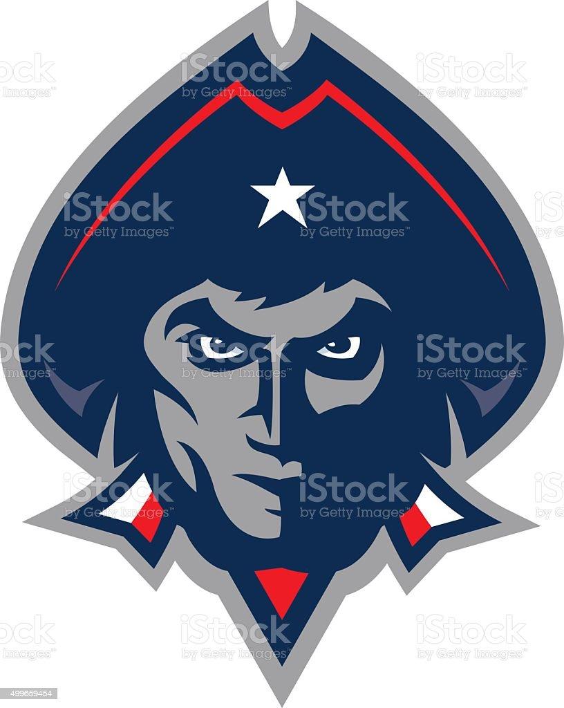 Patriot Head vector art illustration