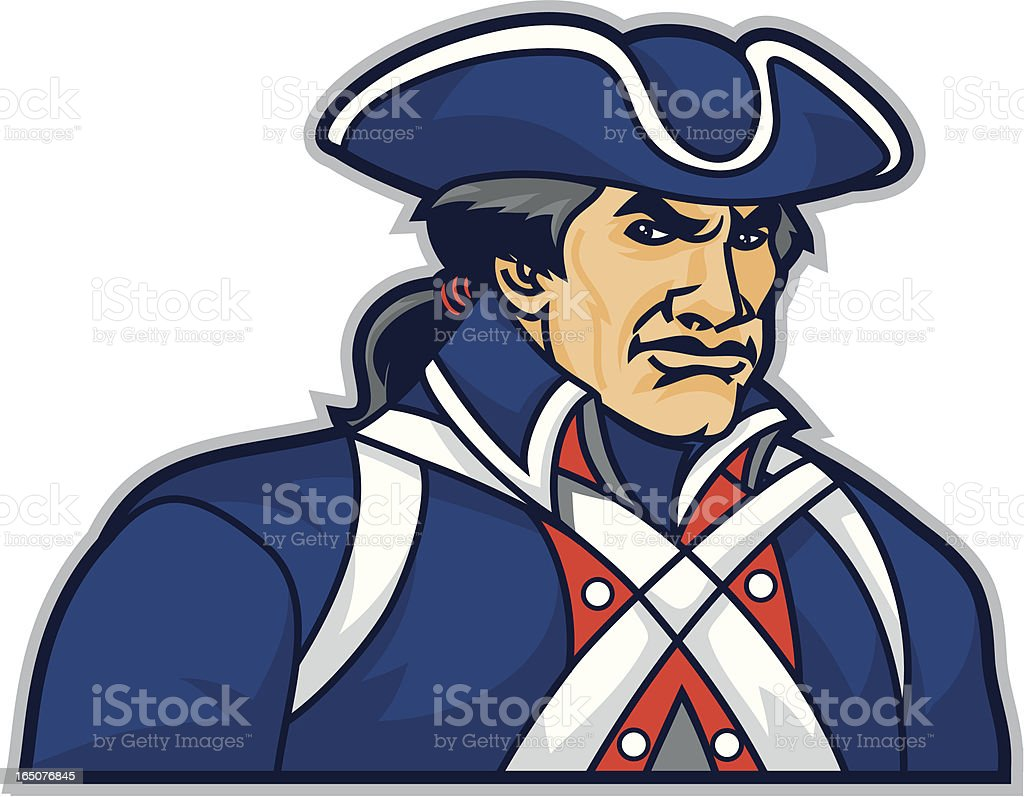 Patriot vector art illustration