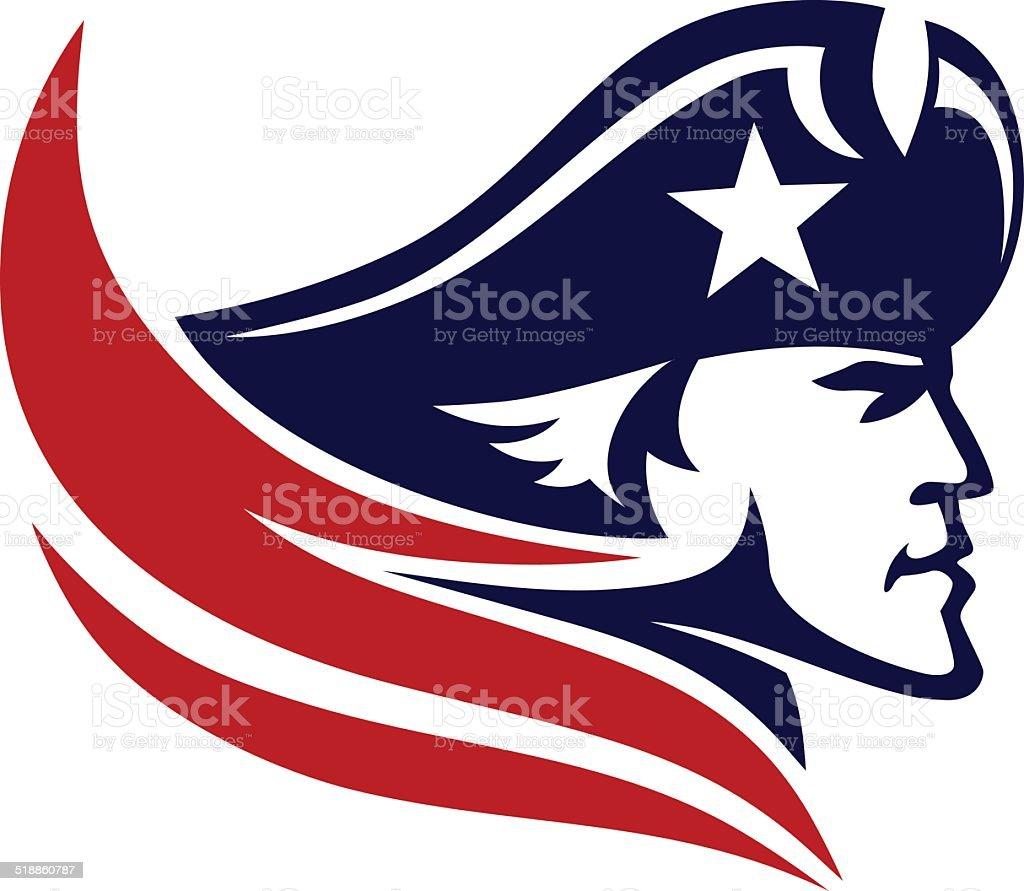 patriot vector art illustration