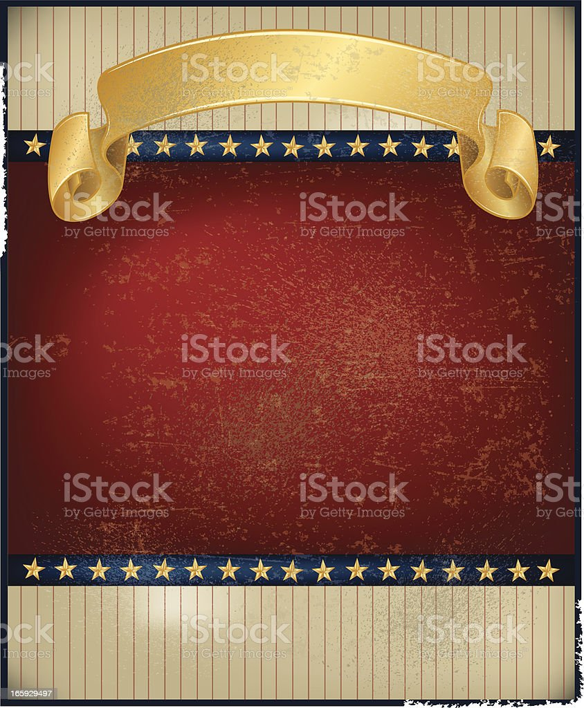 Patriotic American Banner Background - Retro royalty-free stock vector art