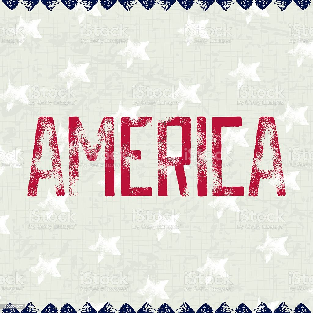 Patriotic background AMERICA vector art illustration
