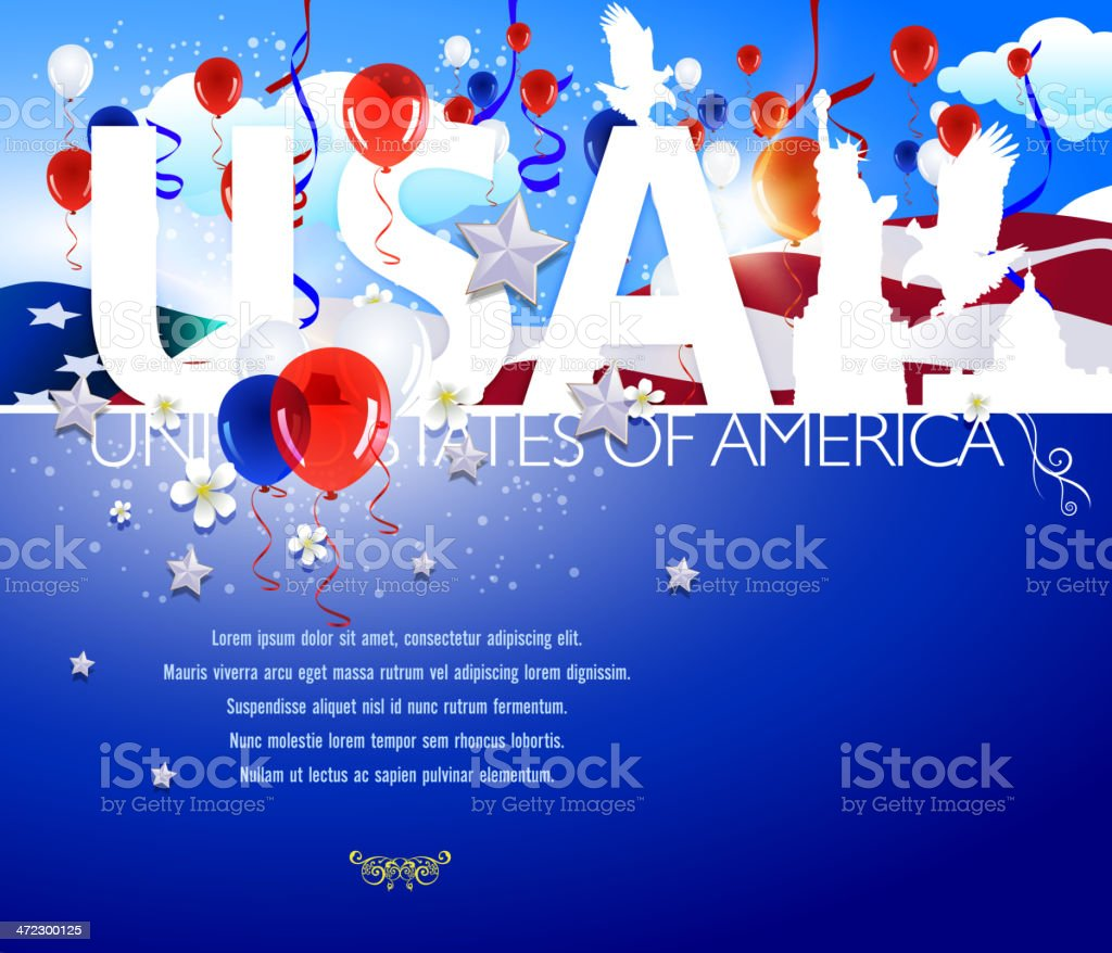 Patriotic Background - USA royalty-free stock vector art