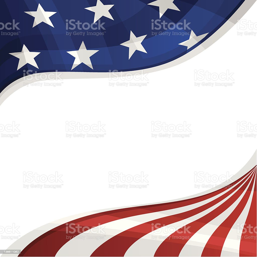 Patriotic Background vector art illustration