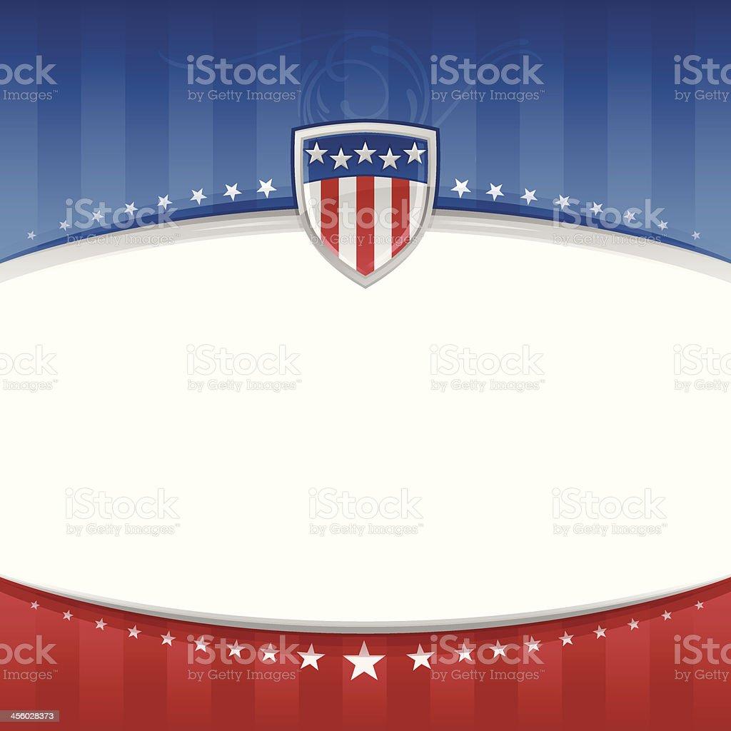 USA Patriotic Background royalty-free stock vector art