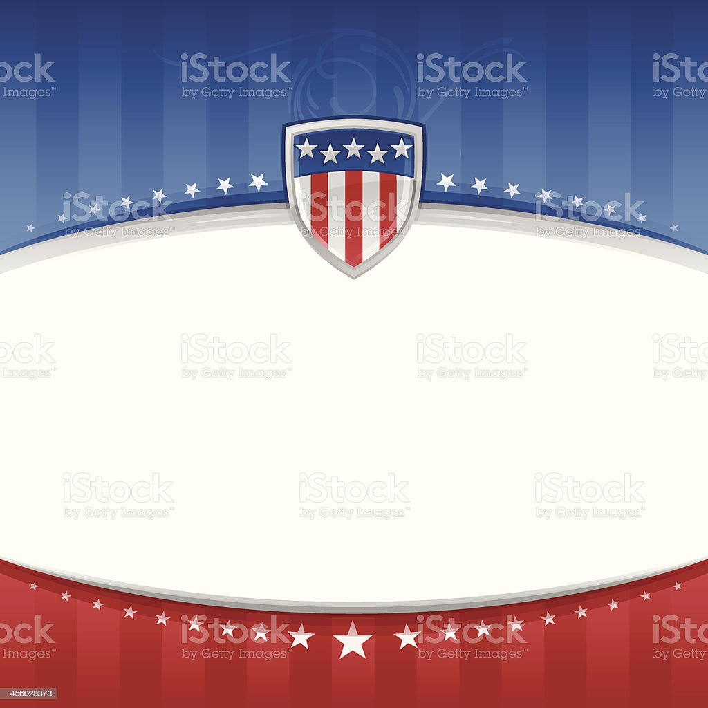USA Patriotic Background vector art illustration