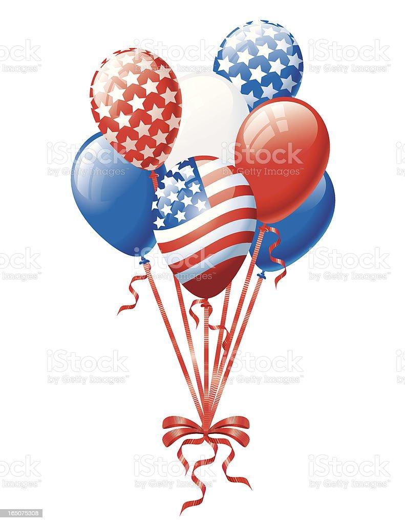 Patriotic Balloon Bunch royalty-free stock vector art
