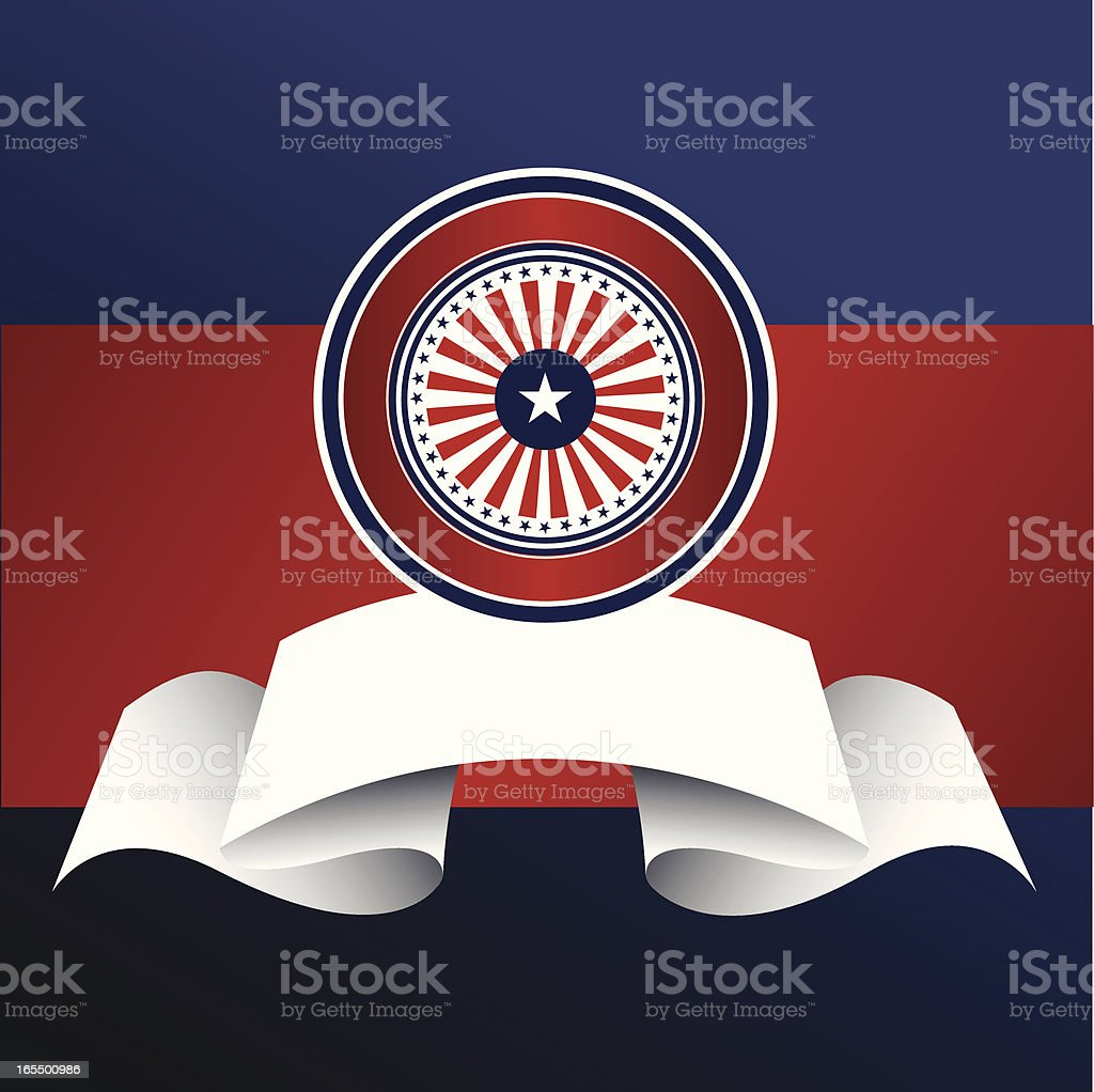 Patriotic Banner vector art illustration