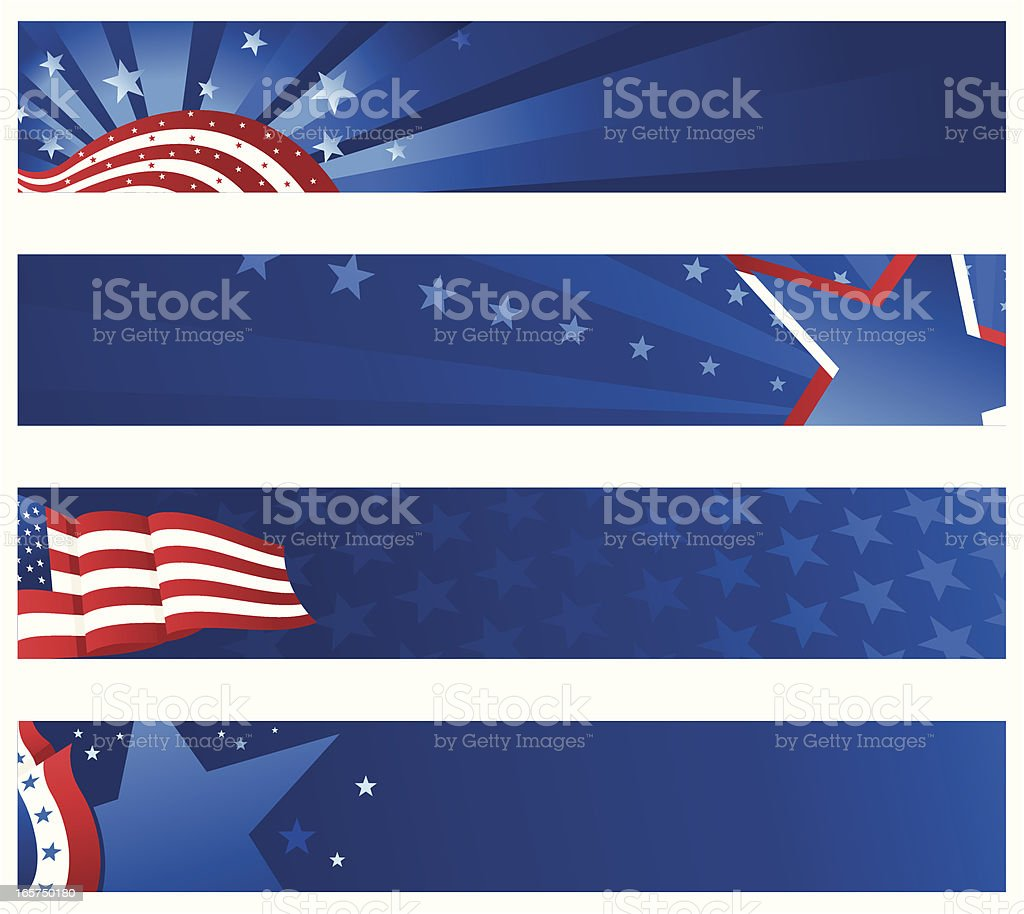 Patriotic banner vector art illustration