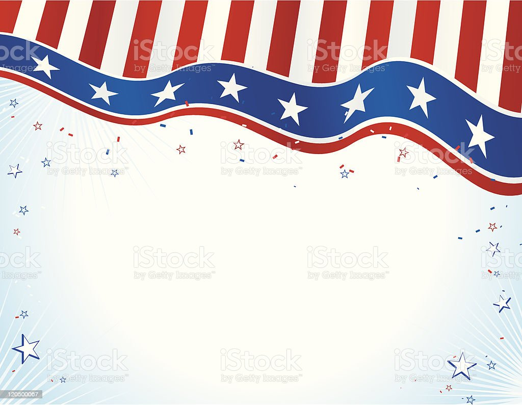 Patriotic Banner with Vignetted Copy Space vector art illustration
