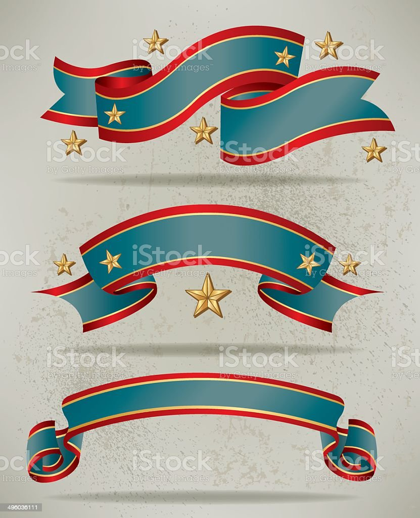 Patriotic Banners royalty-free stock vector art