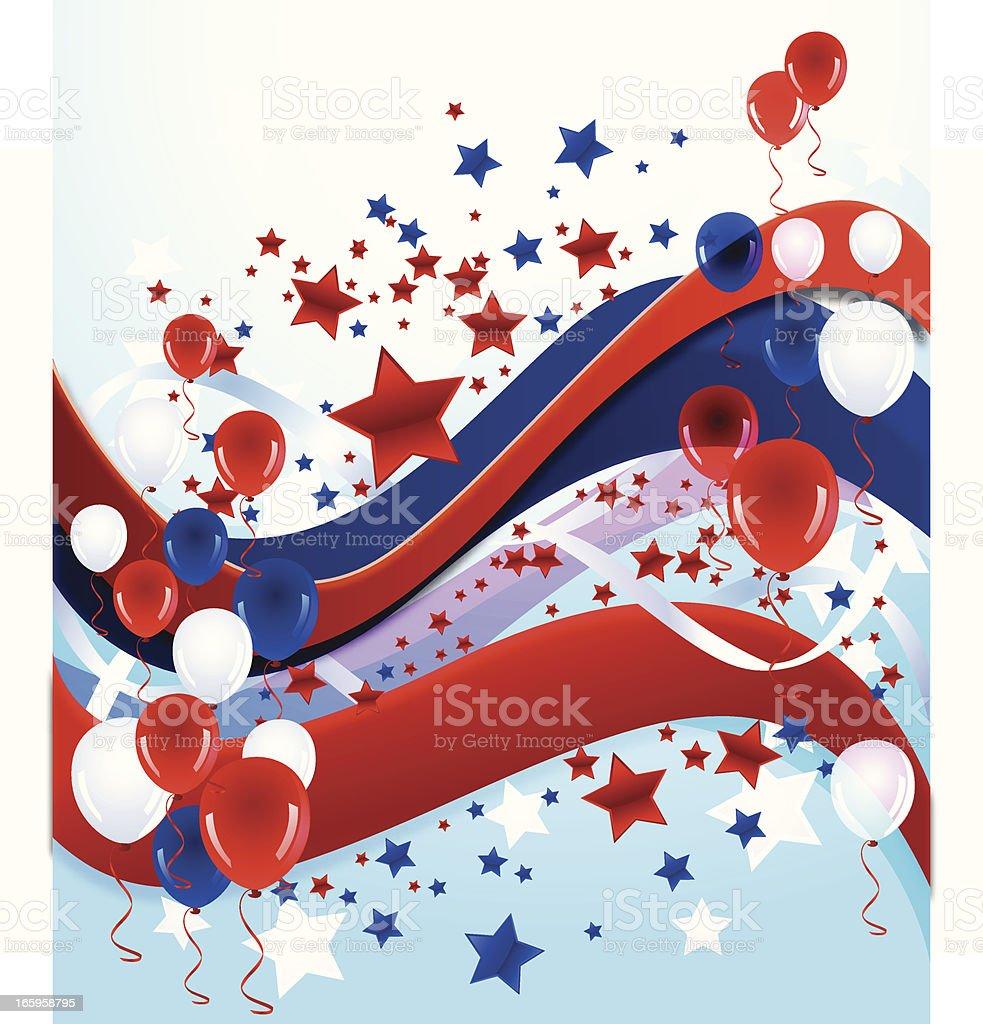 Patriotic Celebration Background royalty-free stock vector art