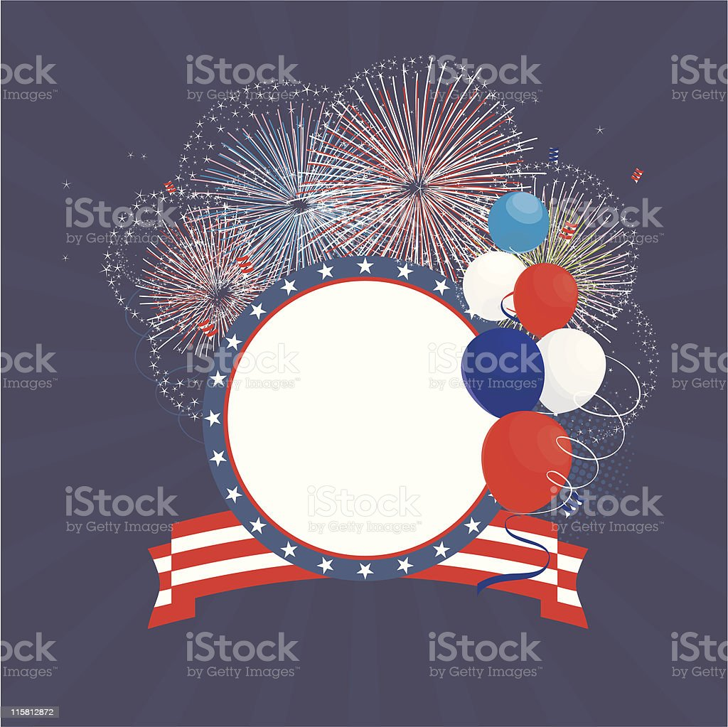 USA patriotic frame royalty-free stock vector art