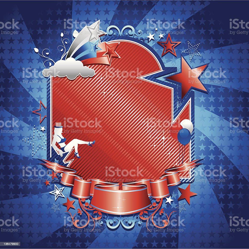 Patriotic Frame/Background vector art illustration