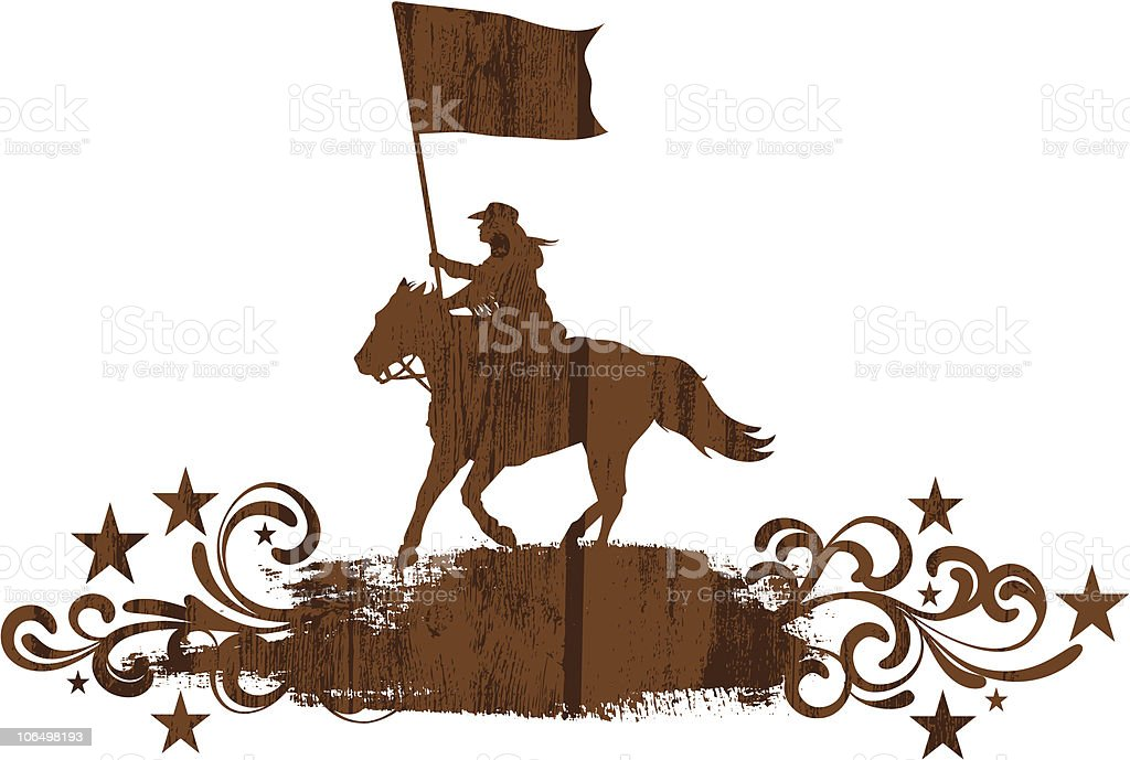 Patriotic Horse Silhouette royalty-free stock vector art