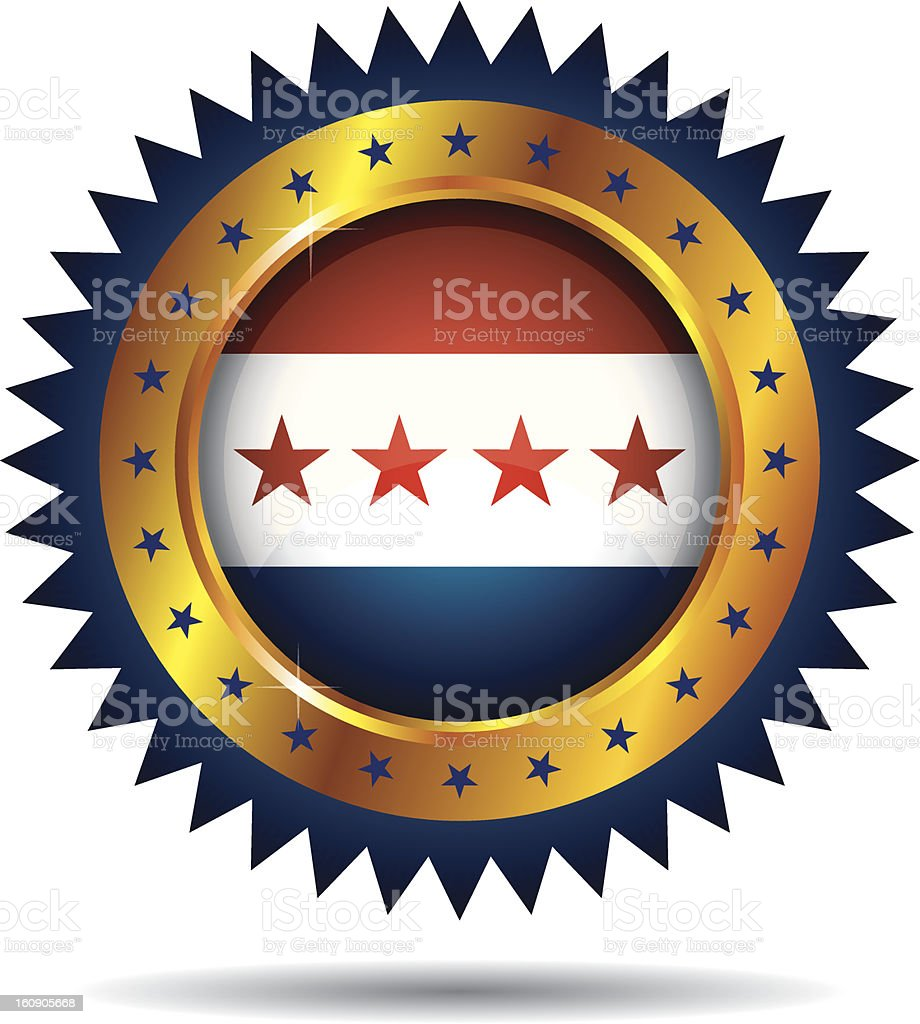 Patriotic Label royalty-free stock vector art