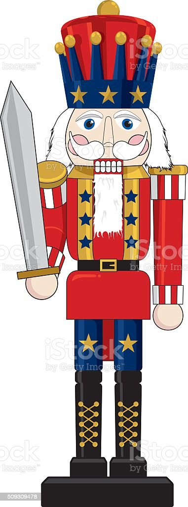 Patriotic Nutcracker vector art illustration