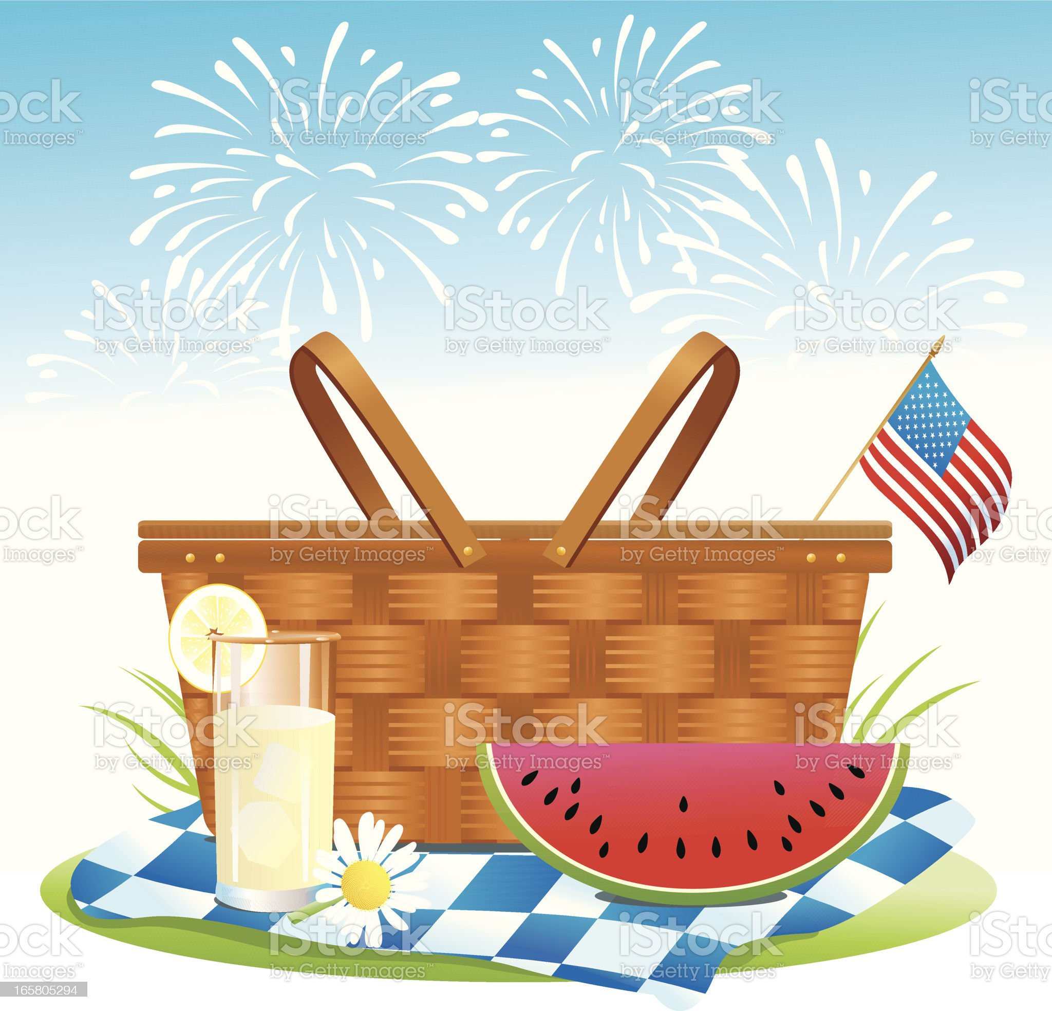 Patriotic Picnic royalty-free stock vector art