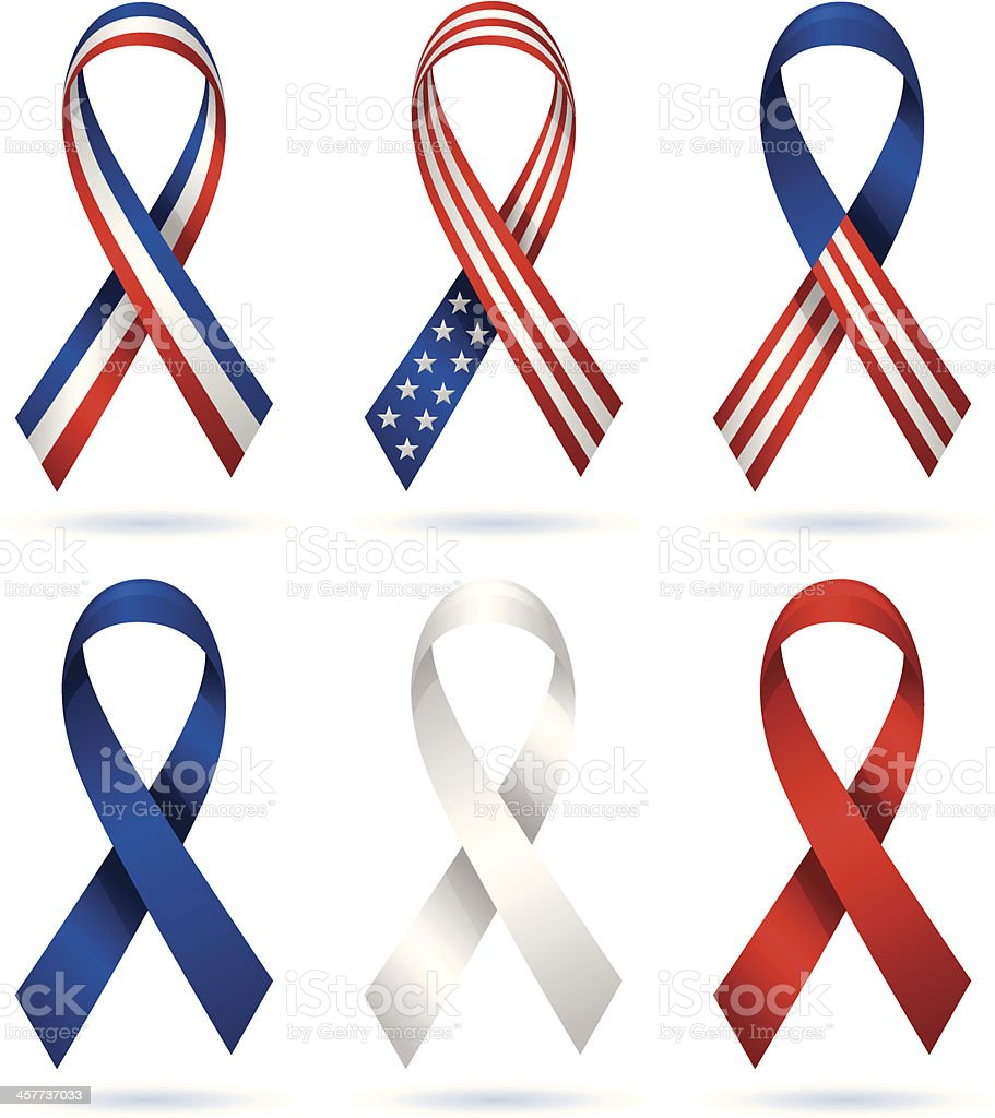 USA Patriotic Ribbons vector art illustration