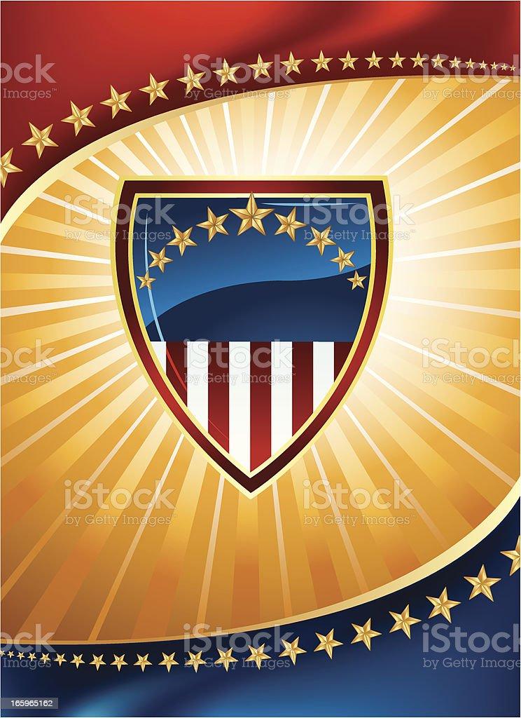 Patriotic Shield Background - Politics or Sports royalty-free stock vector art