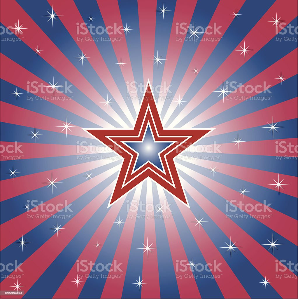 Patriotic Star royalty-free stock vector art