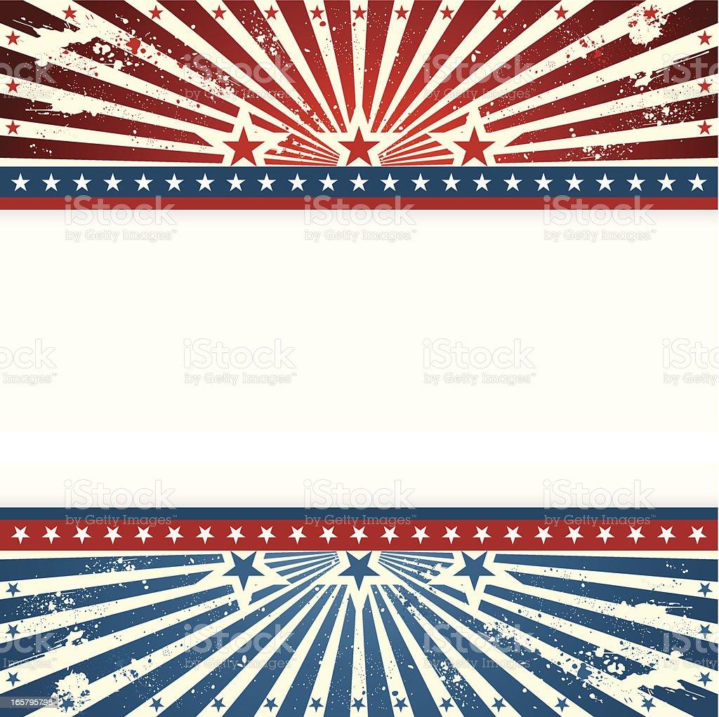 Patriotic Sunshine Background royalty-free stock vector art