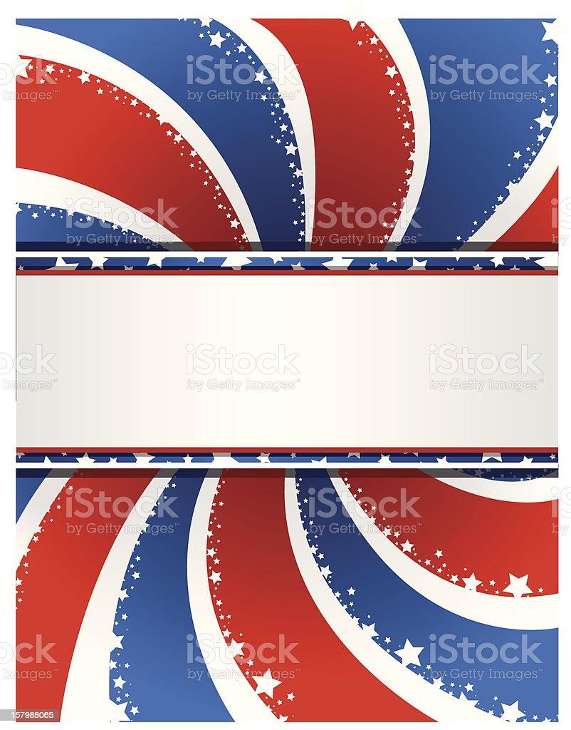 Patriotic Swirl Background royalty-free stock vector art