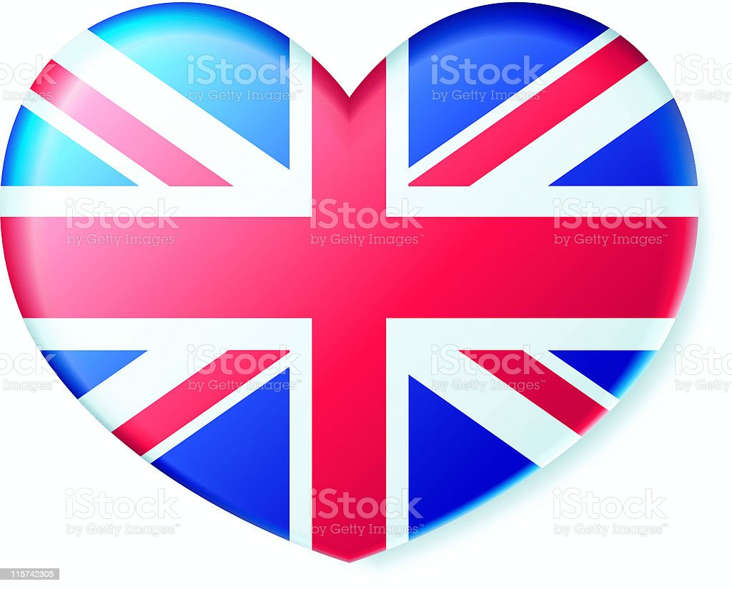 Patriotism - Britain Heart! royalty-free stock vector art