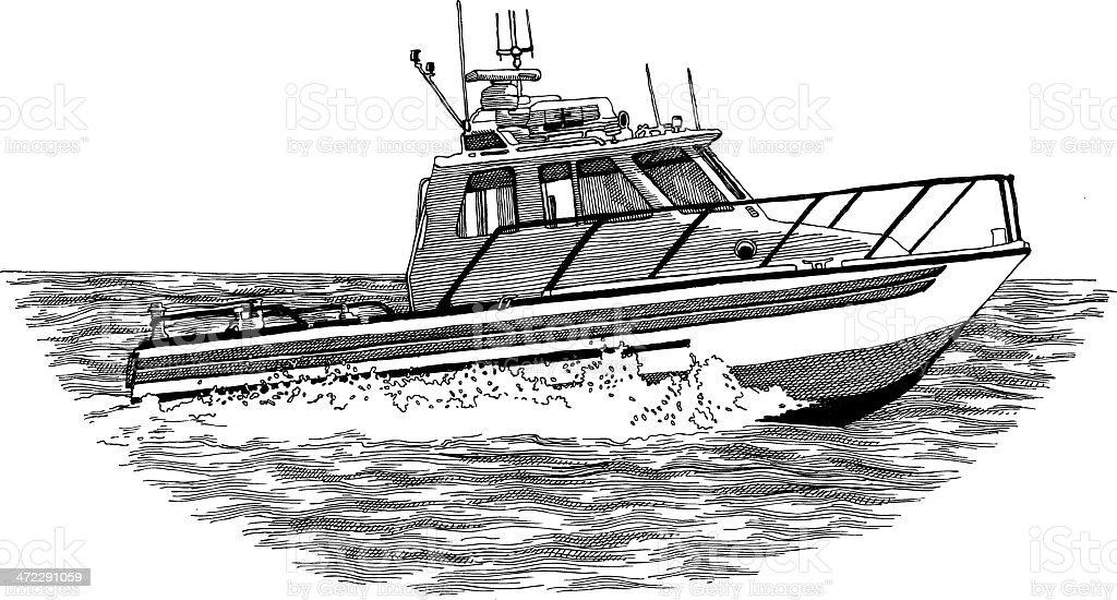 Patrol Boat royalty-free stock vector art