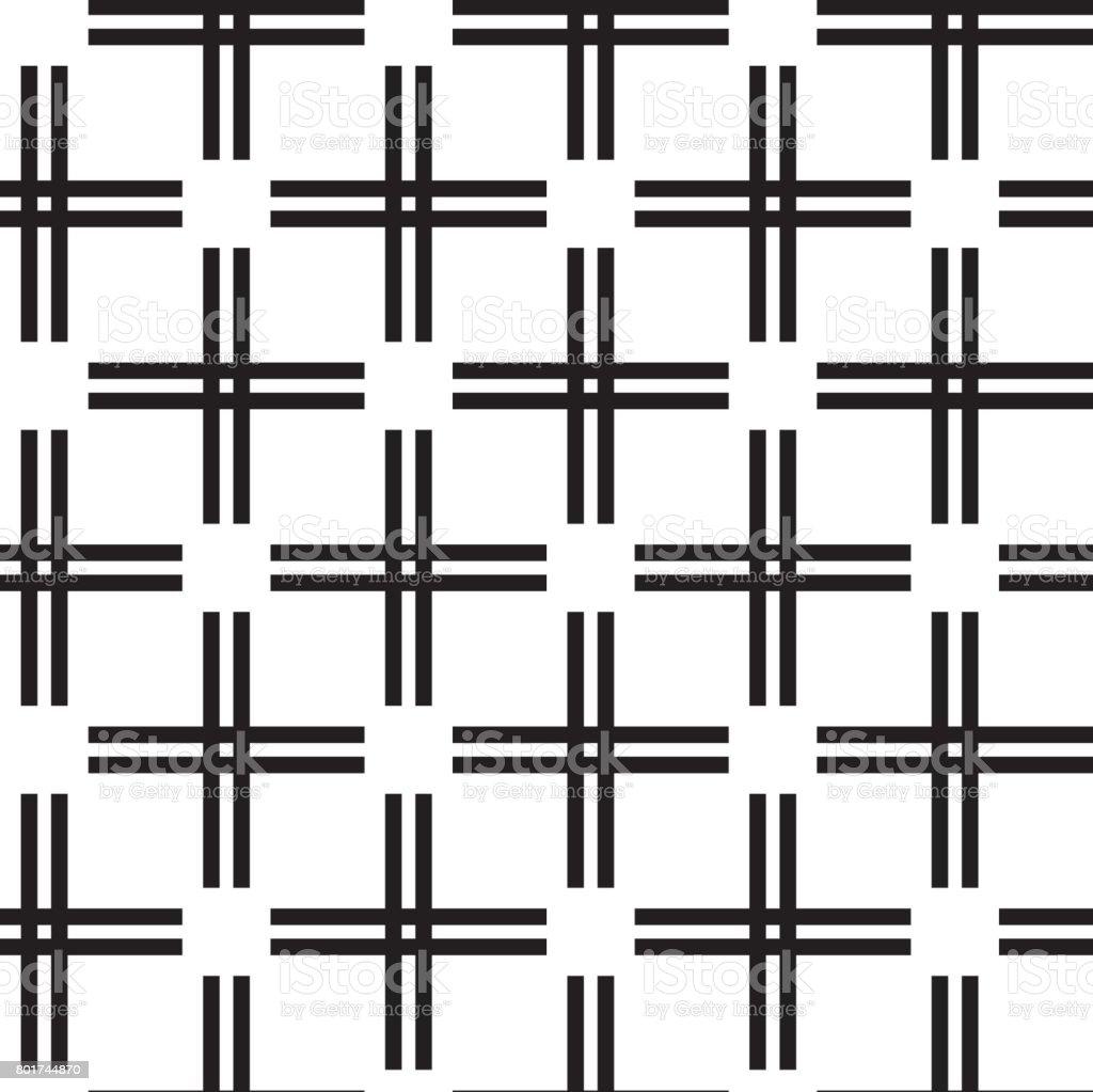Pattern background vector. Geometric black line design element vector art illustration