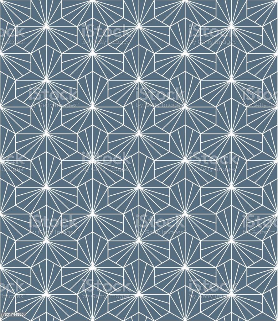 Pattern background vector. Geometric design element seamless vector art illustration