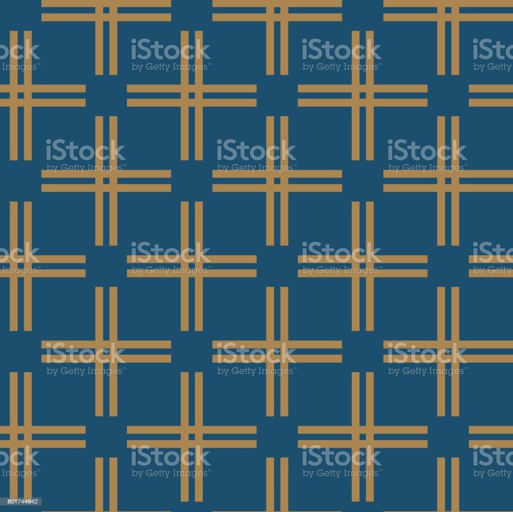 Pattern background vector. Geometric gold line design element vector art illustration