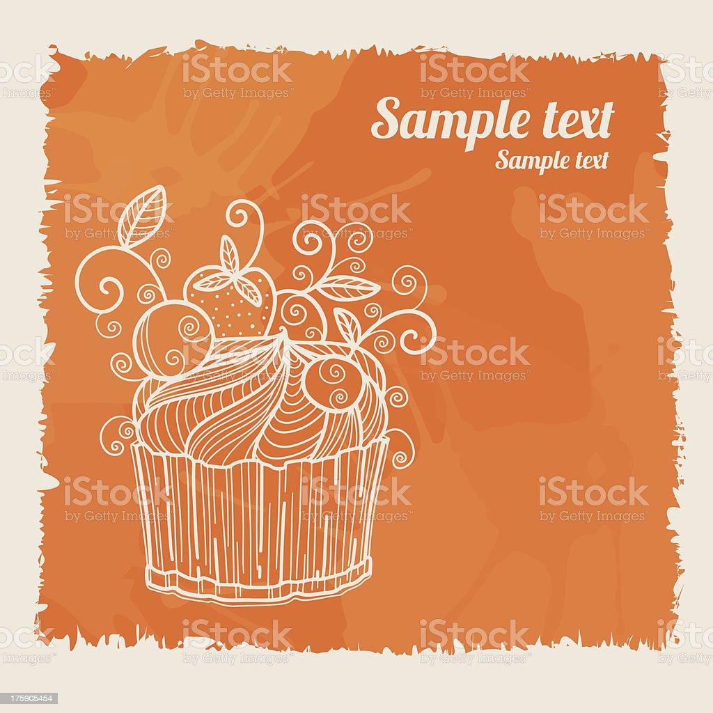 Pattern Birthday Cake vector art illustration