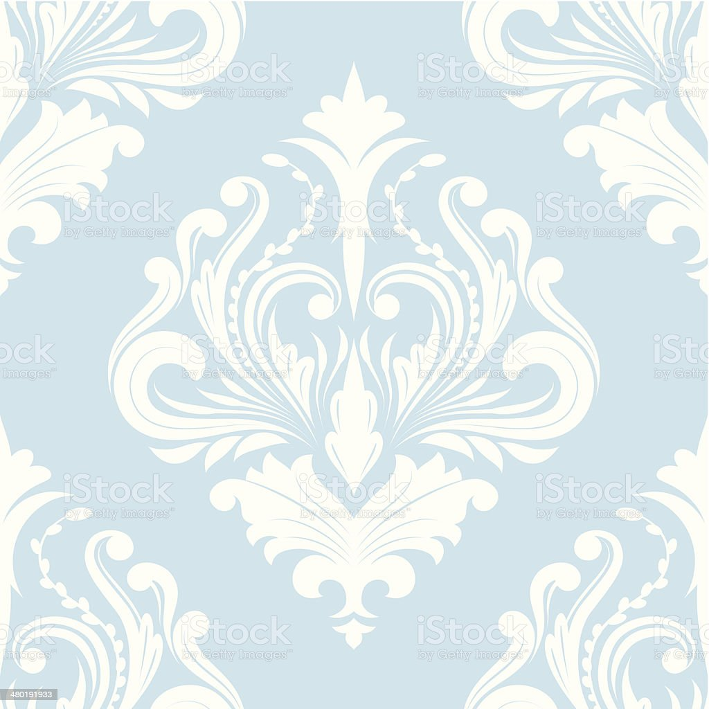 Pattern Blue Classic vector art illustration