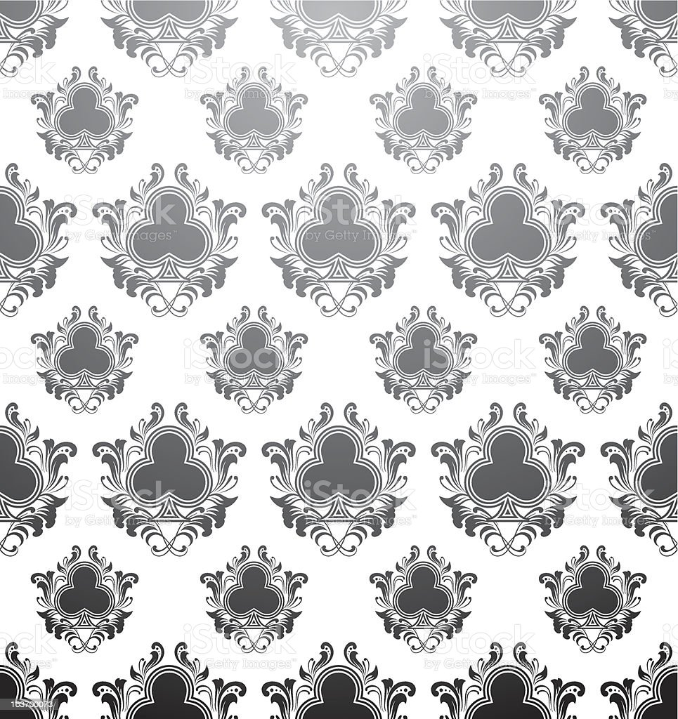 Pattern Clubs vector art illustration