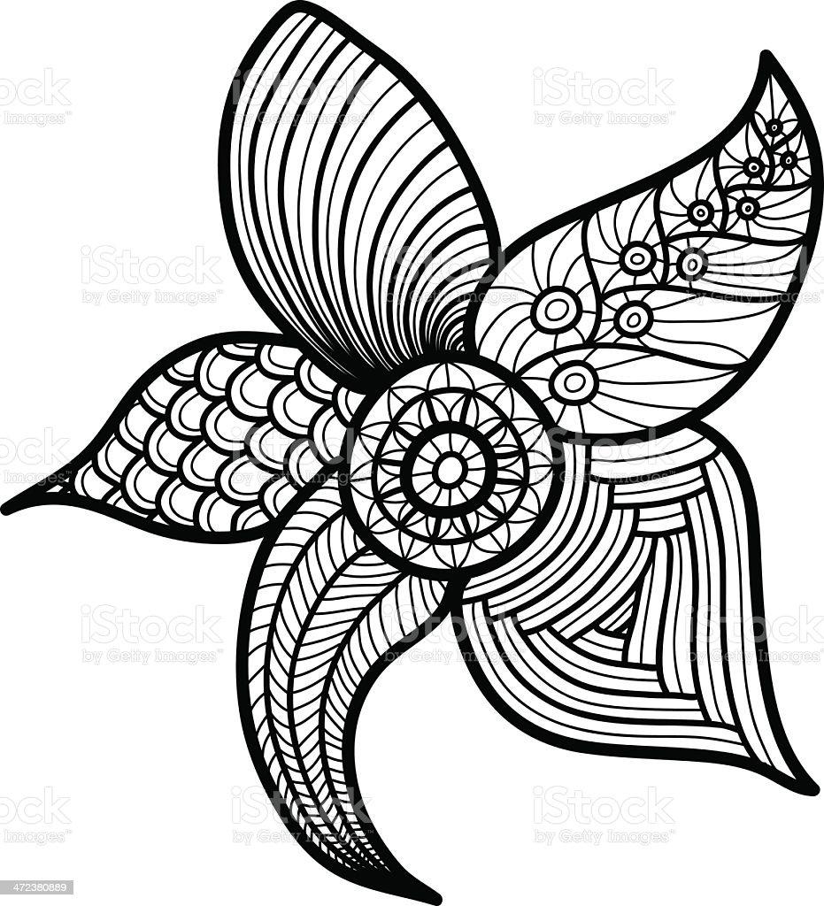 pattern flower vector art illustration