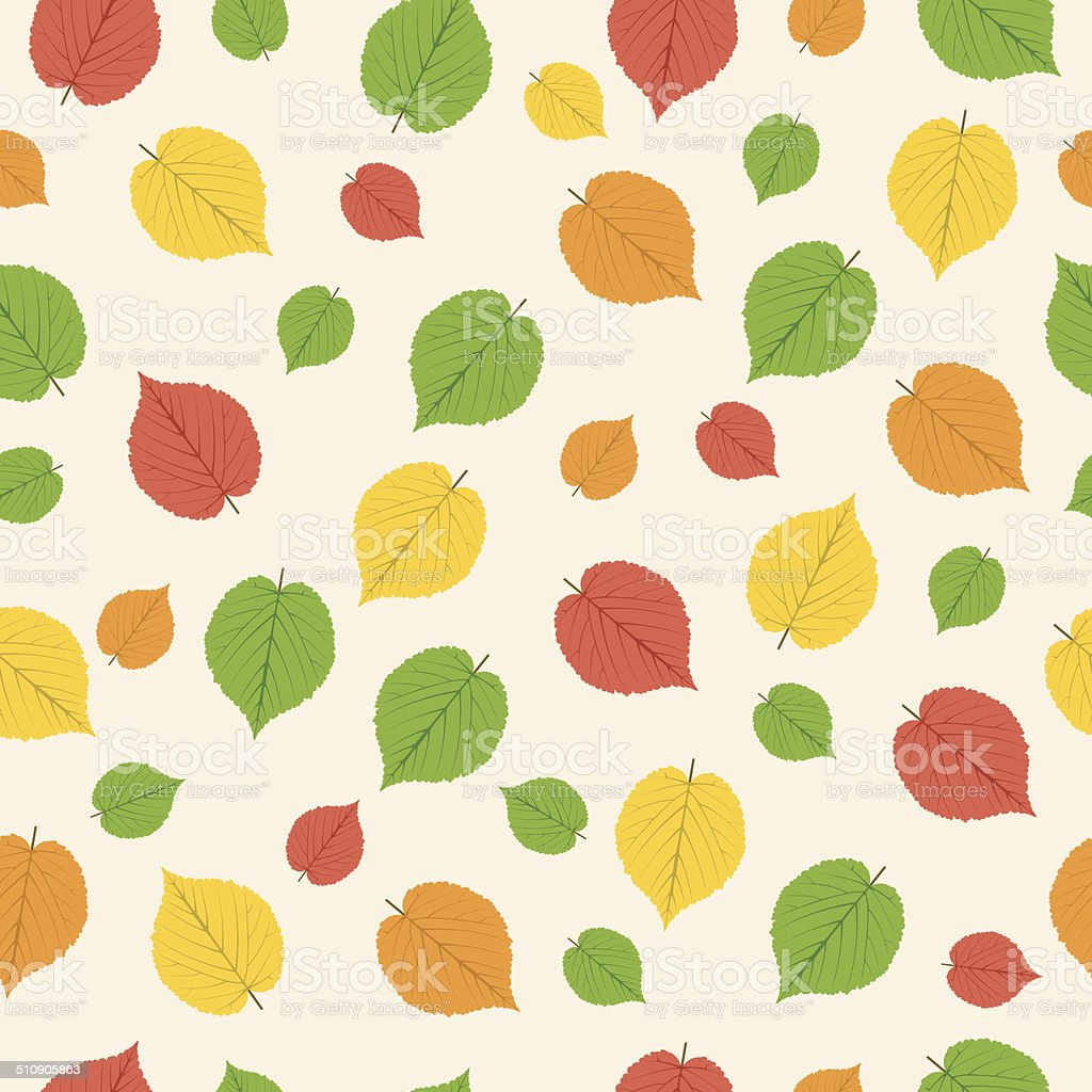 pattern from autumn leaves royalty-free stock vector art