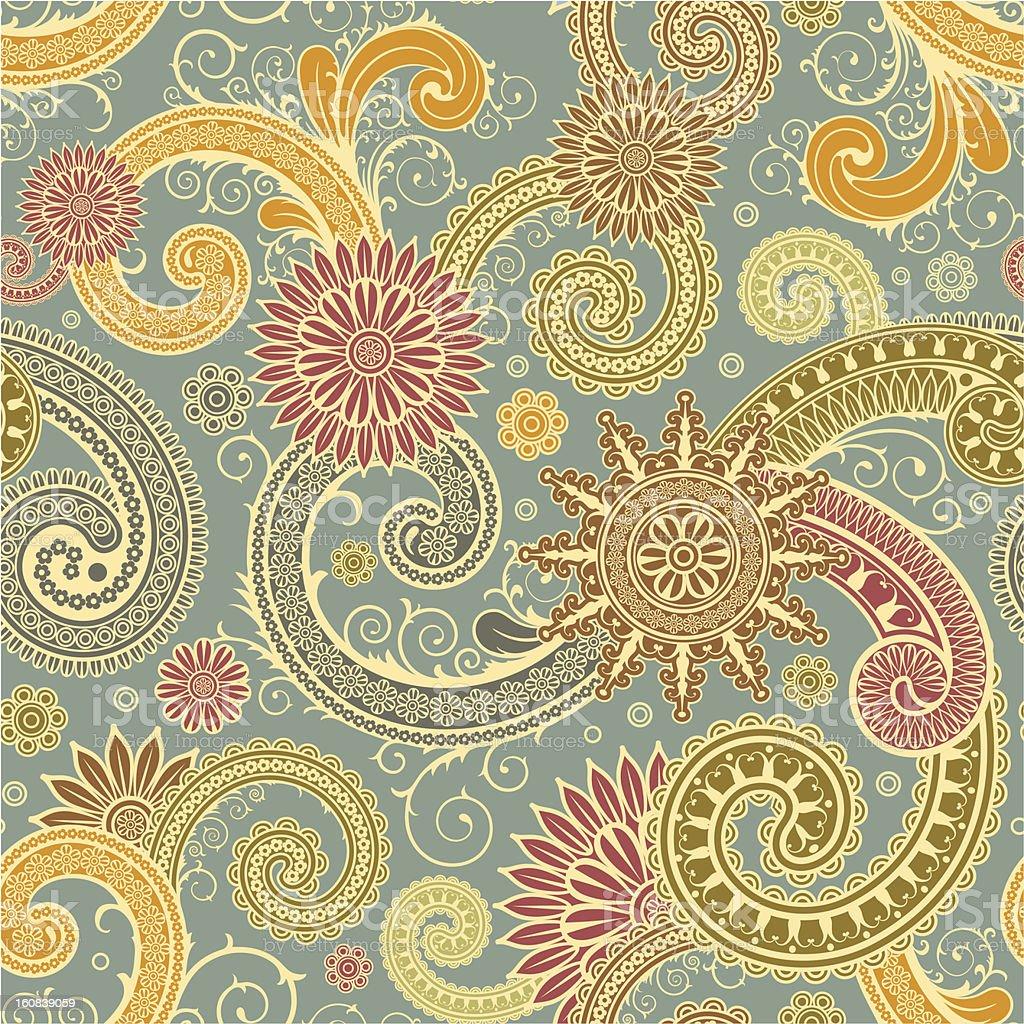 Pattern in east style vector art illustration